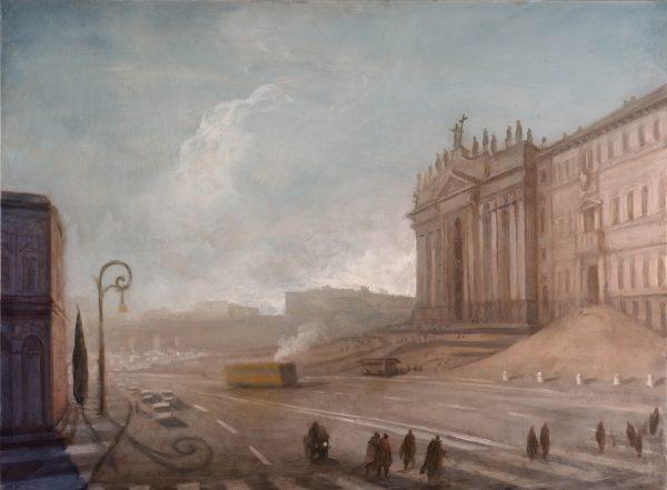 Church of St Giovanni in Laterano, Rome, 60 x 81 cm, 2013